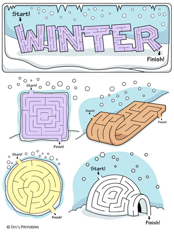 Winter Mazes