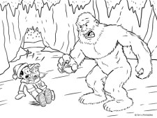 Yeti Coloring Page