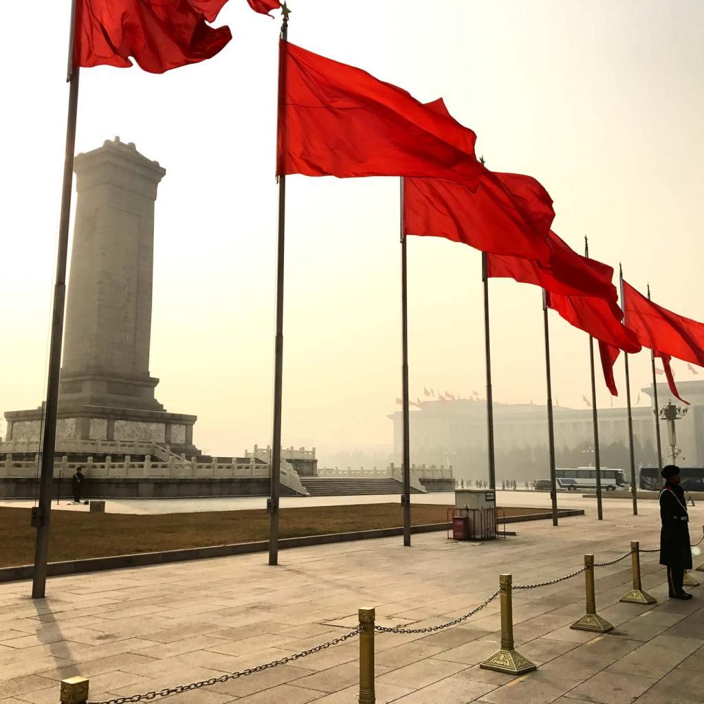 Beijing-Vlaggen-Tiananmenplein