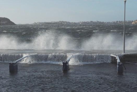 Havet skummar