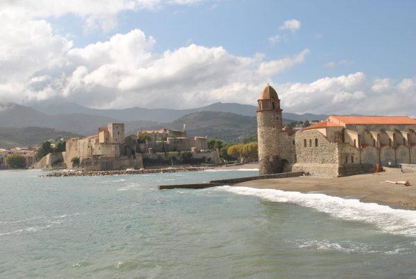 Frankrike o lilla byn Collioure