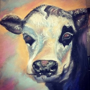 Abstract Cow ( SOLD )