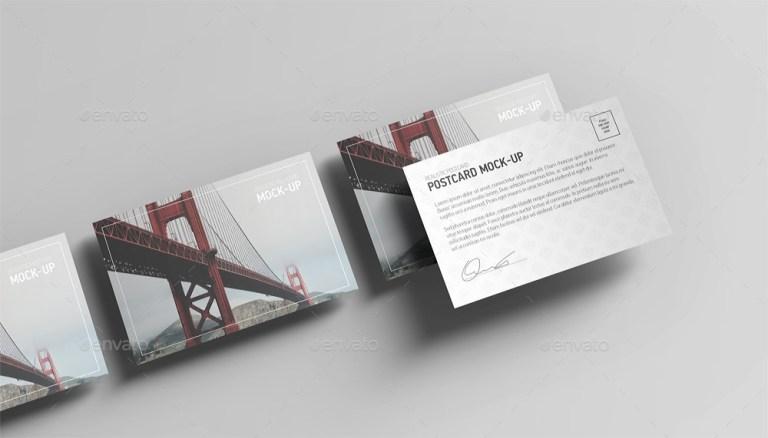 14premium free postcard mock ups in psd free psd templates
