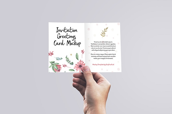 27 invitation greeting card postcard mockups free premium