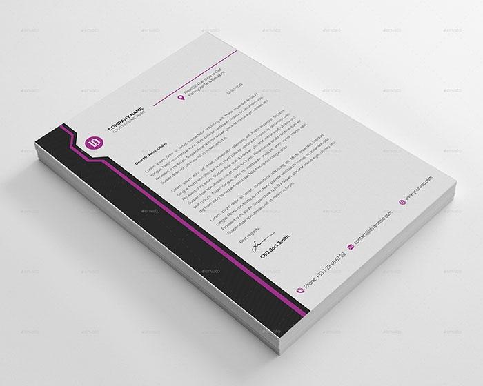 50 best letterhead design templates 2018 psd word pdf indesign