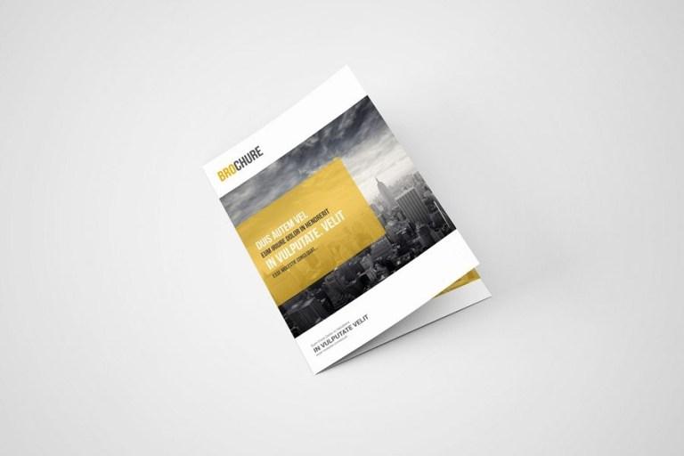 a5 bi fold brochure mockup