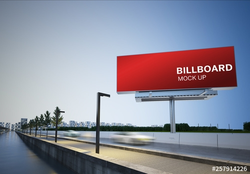 billboard mockup on highway buy this stock template and explore