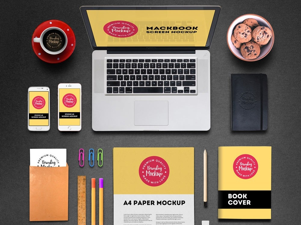 branding and identity mockup mockupworld