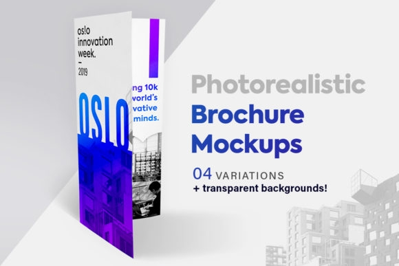 brochure mockup set tri fold graphic graphicdesignmarket