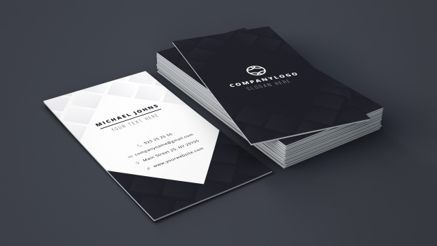 business card stack mockup psd file free download