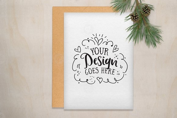 christmas greeting card mockup mockup store