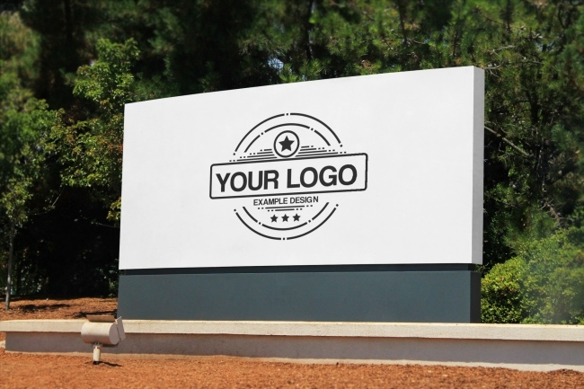 company logo outdoor signage online mockup mediamodifier