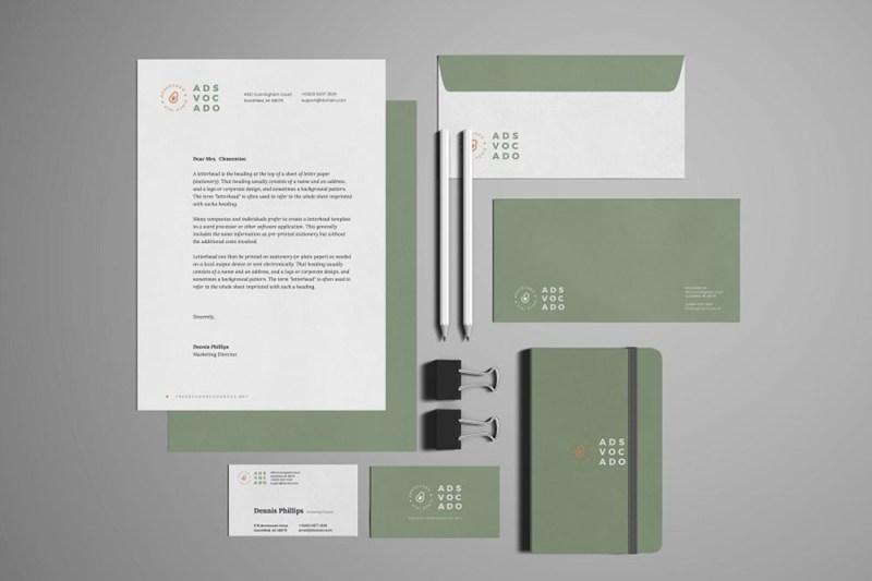 download free stationery branding mockup in psd designhooks