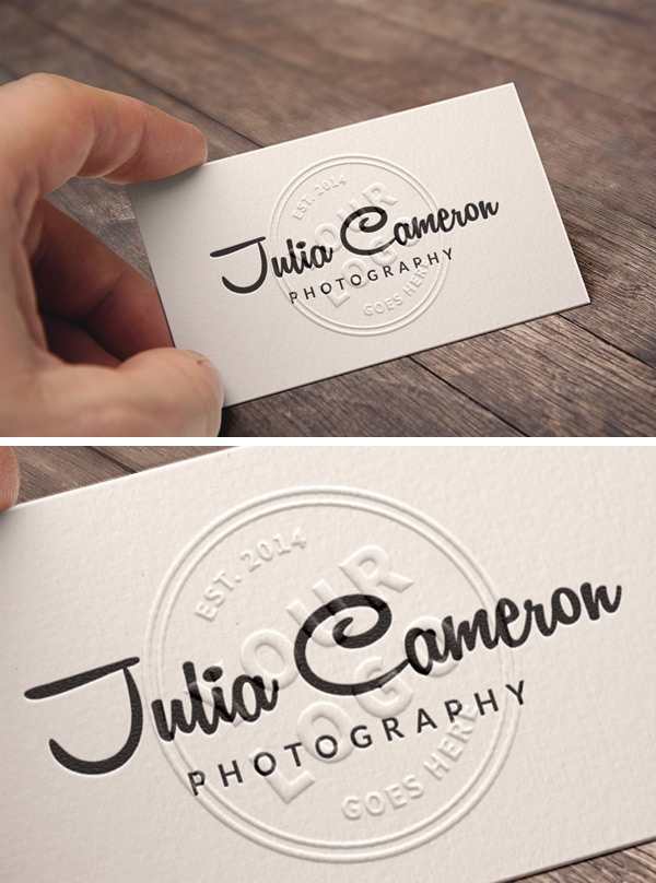 embossed business card mockup graphicburger