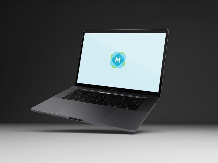 floating space grey macbook pro mockup mockup templates
