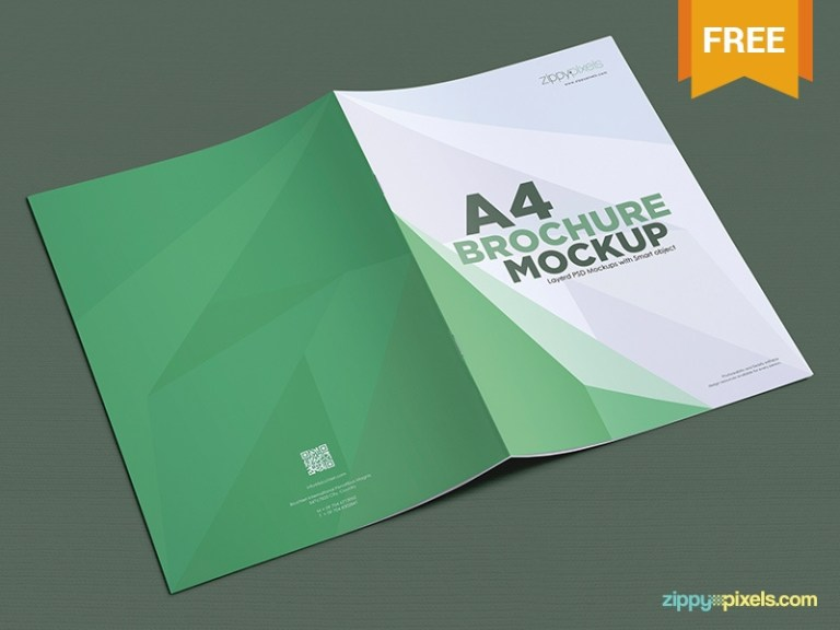 free a4 brochure mockup psds zippypixels on dribbble