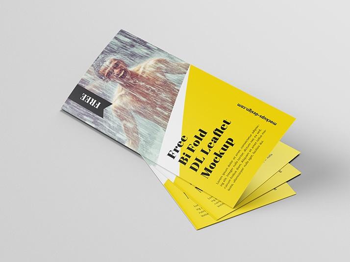 free bi fold dl brochure mockup mockups design free premium mockups