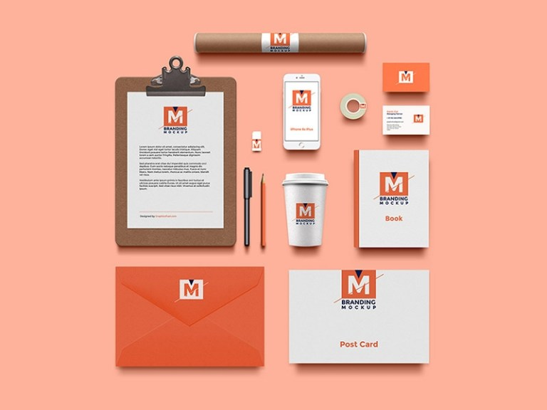 free branding identity mockup graphicsfuel rafi on dribbble