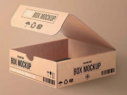 free cartoon packaging mockup psd