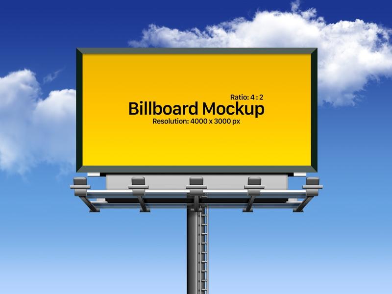free fully customizable outdoor advertising billboard mockup psd