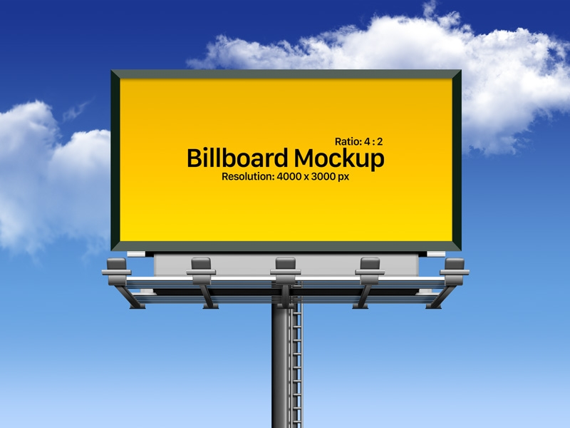 free fully customizable outdoor advertising billboard mockup psd
