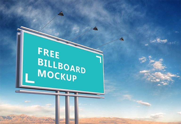 free green outdoor billboard mockup psd titanui