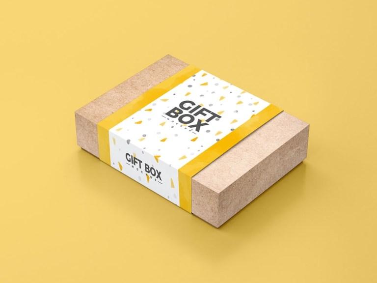 free paper gift box mockup mockuptree
