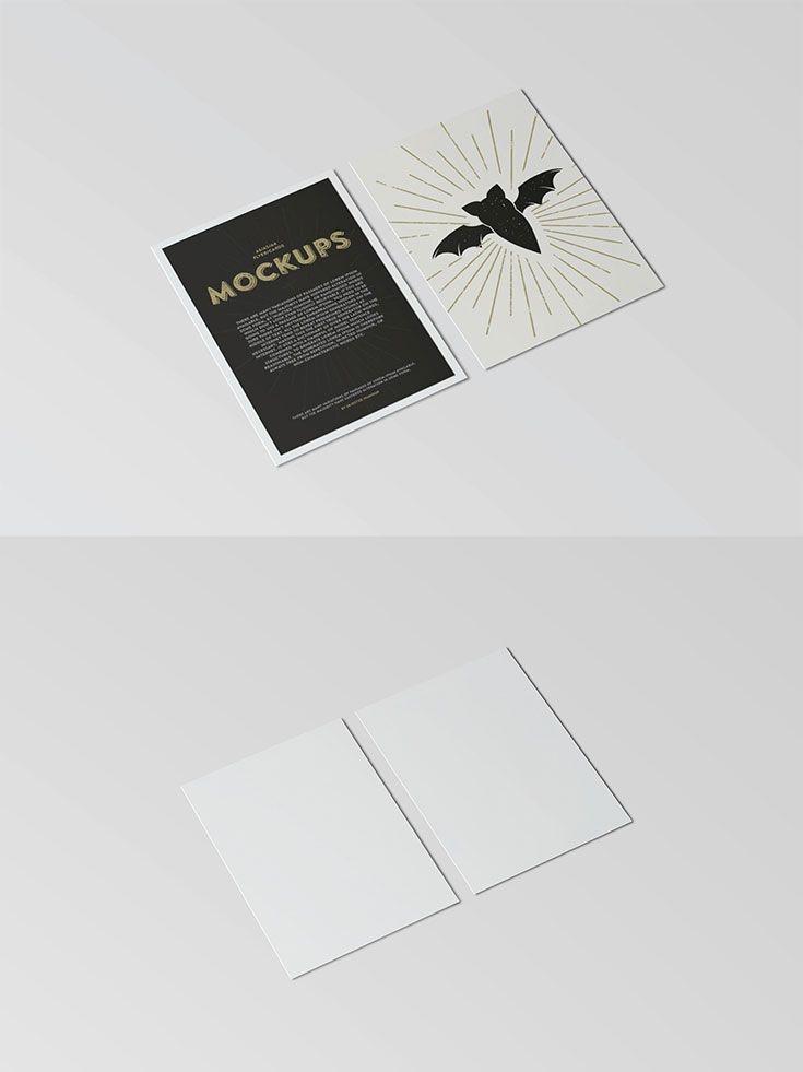 free postcard flyer mockup groupboard creatives shop owners