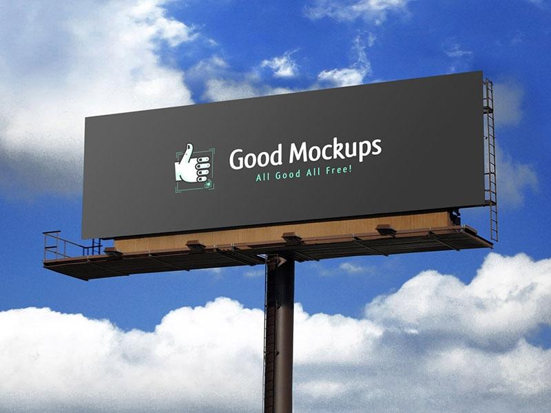 free realistic outdoor advertising billboard mockup psd good