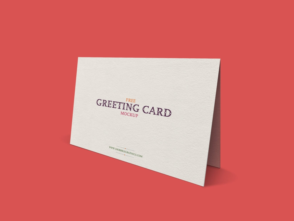 free standing greeting card mockup free mockup