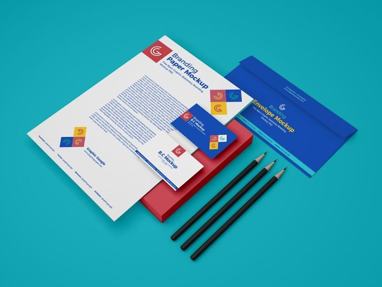 free stationery branding mockup psd mockuptree