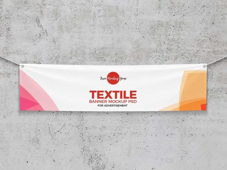 free textile banner mockup mockuptree