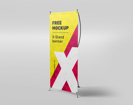 free x stand banner mockup psd