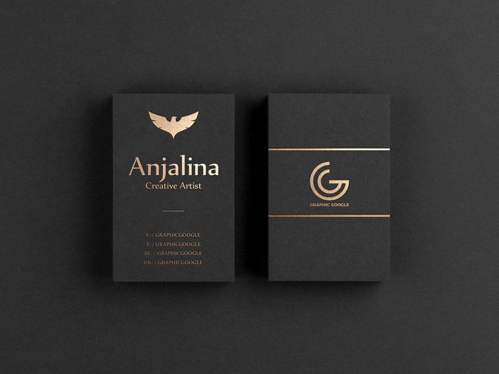 gold foil business card mockup psd template mockup free downloads