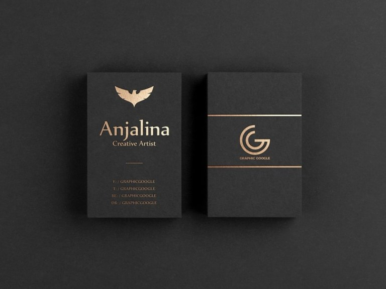 gold foil business card mockup psd template mockup free downloads