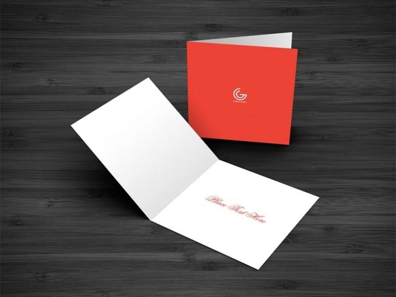 greeting card mockup mockupworld
