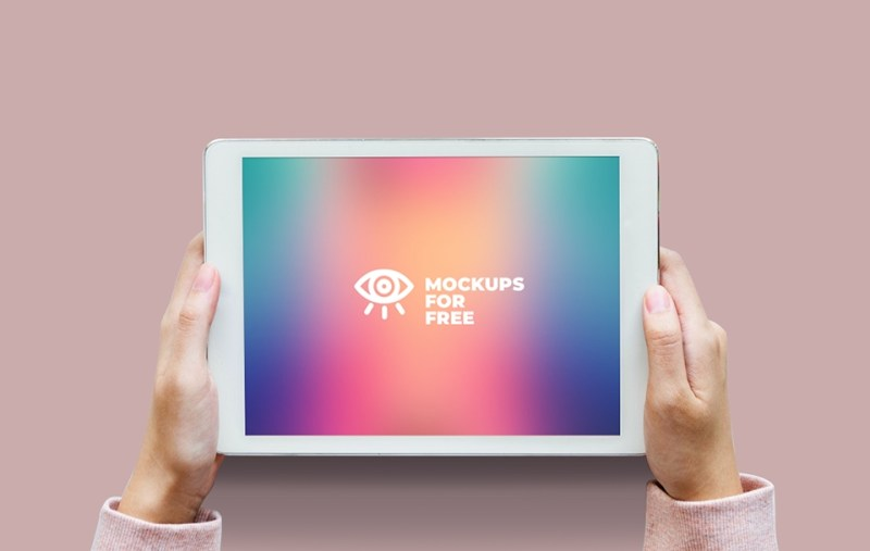 ipad in hands mockup mockups for free