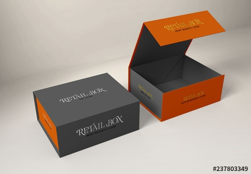 magnetic gift boxes mockup buy this stock template and explore