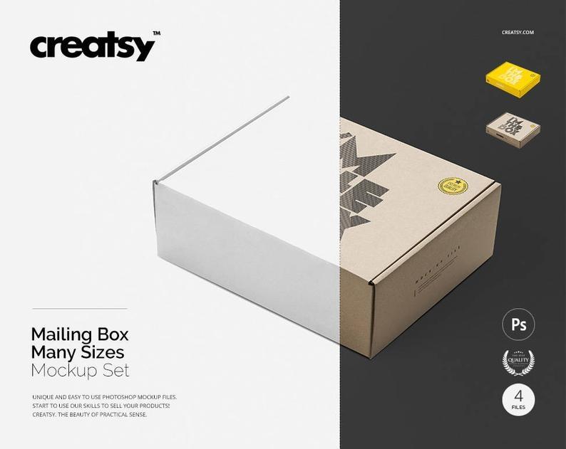 mailing box mockup set etsy