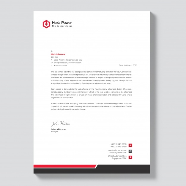 modern letterhead mockup psd file premium download