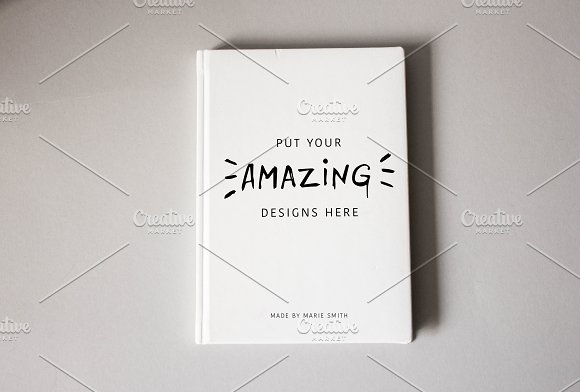 notebook or book cover mockup mockup store