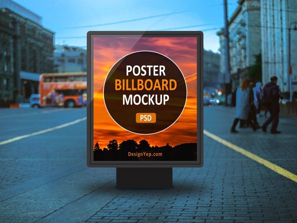 outdoor poster billboard mockup free psd pixelpapa
