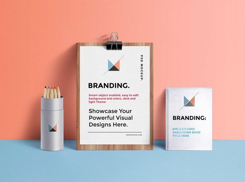 realistic free branding identity mockup mockuptree
