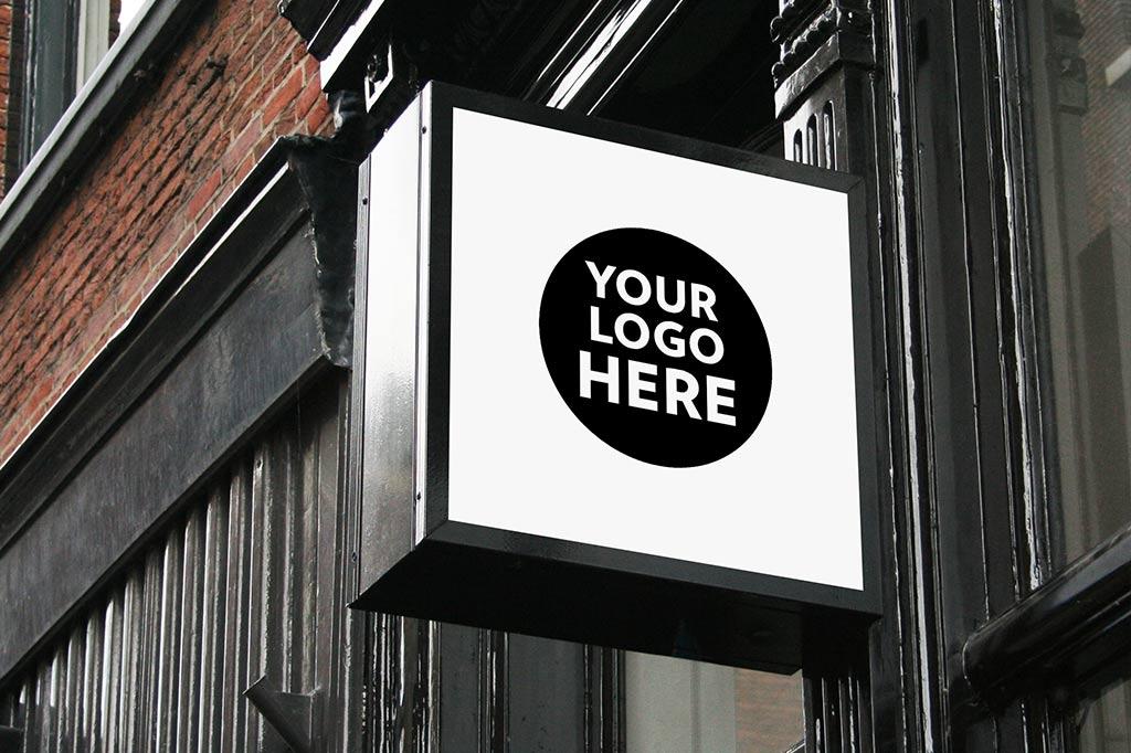 shop signs mockup set mockupworld