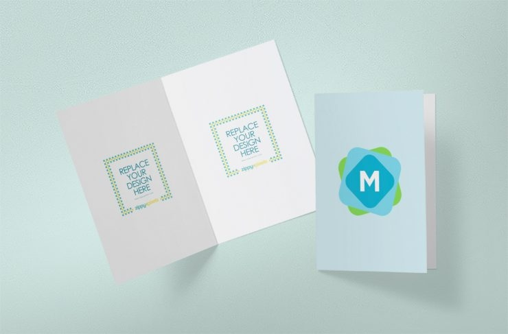 simple greeting card mockup mockup templates