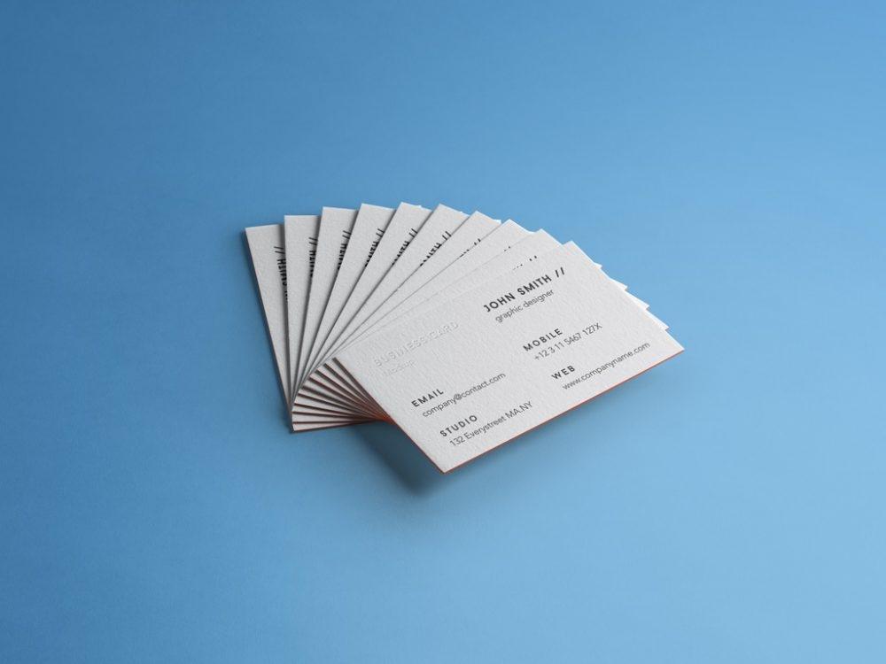stack of business cards mockup mockupworld
