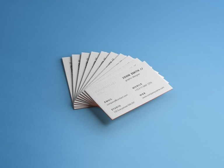 stack of business cards mockup mockupworld