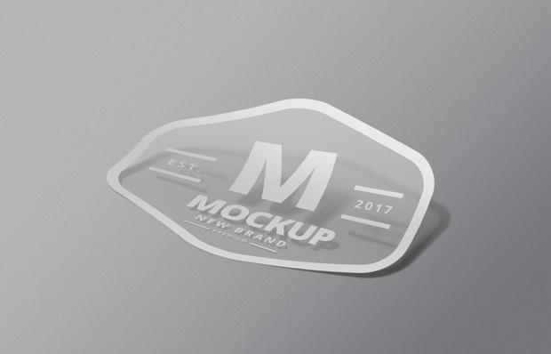 sticker mockup psd