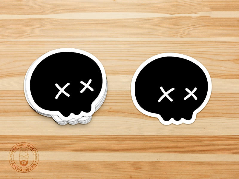 sticker mockup psd freebie supply