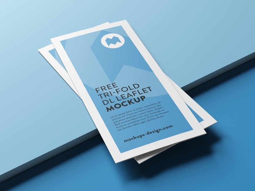 tri fold brochure mockup bundle mockup love